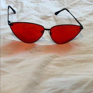 Accessories - red lenses sunglasses
